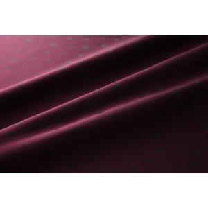 メール便送料無料 9302 カラー61ワインレッド 水玉柄高級ジャガード裏地 高密度,キュプラ100%,ふじやま織 宅配便480円|ttp