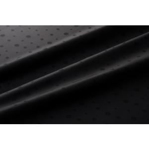メール便送料無料 9302 カラー90ブラック 水玉柄高級ジャガード裏地 高密度,キュプラ100%,ふじやま織 宅配便480円|ttp