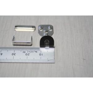 サイズ:縦約1.1cm、横約1cm 色:シルバー(白)、ブラック(黒) モリト製の前カンです。打込み...