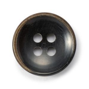メール便送料無料 水牛ボタンブラントK-1196 COLOR.BLK 15mm紳士服スーツジャケットの袖口・袖ボタン 老舗テーラー御用達スーツボタン専門店の高級ボタン|ttp