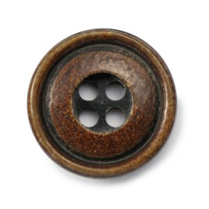 メール便送料無料 水牛ボタンブラントK-1094 COLOR.BRN 15mm紳士服スーツジャケットの袖口・袖ボタン 老舗テーラー御用達スーツボタン専門店の高級ボタン|ttp