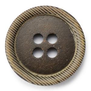 メール便送料無料 水牛ボタンブラントK-1176 COLOR.DBRダークブラウン 20mm紳士服スーツジャケットの前ボタン スーツボタン専門店の高級ボタン|ttp