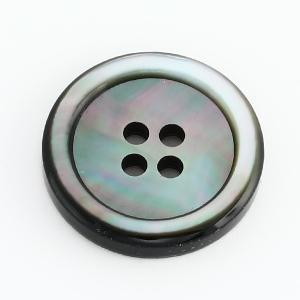 [メール便送料無料]厚手3.5mm厚17型黒蝶貝ボタン 15mm肉厚スーツジャケットの袖用ボタンに|ttp