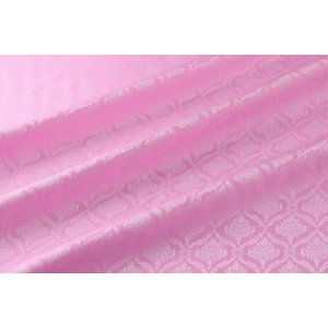 メール便送料無料 9304 カラー21ピンク ダマスク柄高級ジャガード裏地 高密度,キュプラ100%,ふじやま織 宅配便は480円|ttp