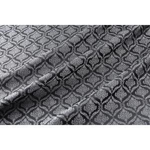 メール便送料無料 9304 カラー40ダークグレー ダマスク柄高級ジャガード裏地 高密度,キュプラ100%,ふじやま織 宅配便は480円|ttp
