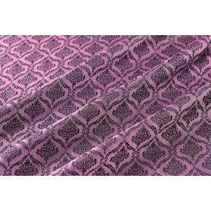 メール便送料無料 9304 カラー71ピンク ダマスク柄高級ジャガード裏地 高密度,キュプラ100%,ふじやま織 宅配便は480円|ttp