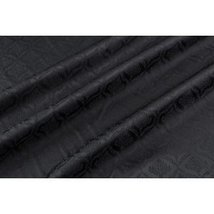 メール便送料無料 9304 カラー90ブラック ダマスク柄高級ジャガード裏地 高密度,キュプラ100%,ふじやま織 宅配便は480円|ttp