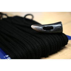 トグルボタン用ひも ブラック黒色 コート用水牛トグルボタンの紐 10cm単位 ダッフルコート用紐 ヒモのみボタン別売|ttp