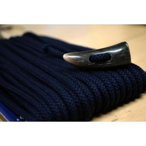 トグルボタン用ひも ネイビー濃紺色(コート用水牛トグルボタンの紐)10cm単位 ダッフルコート用紐(ヒモのみボタン別売)|ttp