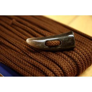 トグルボタン用ひも ブラウン茶色 コート用水牛トグルボタンの紐 10cm単位 ダッフルコート用紐 ヒモのみボタン別売|ttp