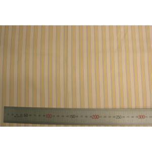[10cm単位カット]甲州織袖裏880番高級袖裏 生成りの黄色ストライプ(スーツの袖の裏の生地です) ttp