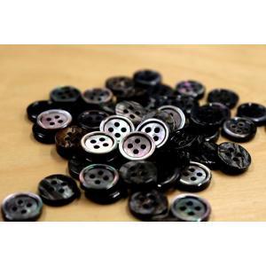 メール便送料120円 肉厚 17型黒蝶貝ボタン 11.5mm単品1個単位 厚み2.5mm 天然貝シャツボタン スーツボタン専門店のこだわりボタン|ttp