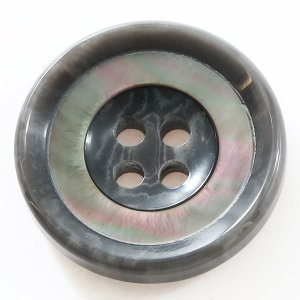 バーラ COLOR.07グレー系  15mm 1個から販売 ポリエステルと貝ボタンの組合わせ 紳士服スーツジャケットの袖口ボタン・袖ボタン|ttp