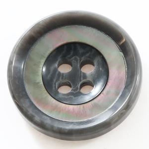 バーラ COLOR.07グレー系  20mm 1個から販売 ポリエステルと貝ボタンの組合わせ 紳士服スーツジャケットの前ボタン|ttp
