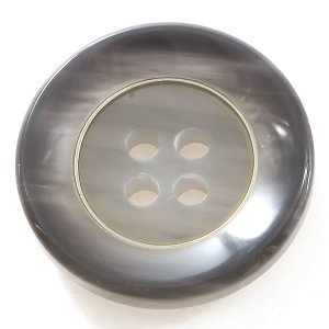 ケウル COLOR.04ライトグレー系  20mm 1個から販売 ポリとメタルリングの組合わせ 紳士服スーツジャケットの前ボタン|ttp