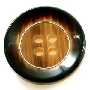 ケウル COLOR.45ブラウン系  15mm 1個から販売 ポリとメタルリングの組合わせ 紳士服スーツジャケットの袖口ボタン・袖ボタン|ttp