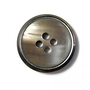 【メール便送料無料】高級スーツジャケット用ボタン サンダー 15mm color.42(シャンパンシルバー) 紳士服スーツジャケットの袖口・袖ボタンに|ttp