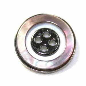 【メール便送料無料】PS-16黒蝶貝メタルボタン20mm(ブラックゴールド)【ゆうメール選択のみ送料無料・宅配便は480円加算】|ttp
