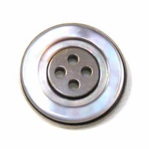 【メール便送料無料】PS-16黒蝶貝メタルボタン20mm(燻ゴールド)【ゆうメール選択のみ送料無料・宅配便は480円加算】|ttp