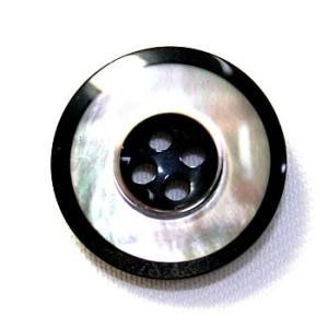 メール便送料無料 高級スーツジャケット用ボタン  H-4マザー color.80  17mm ttp