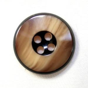 【メール便送料無料】高級スーツジャケット用ボタン  818(COLOR.40) 15mm 紳士服スーツジャケットの袖口・袖ボタンに|ttp