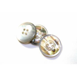 【メール便送料無料】高級スーツジャケット用ボタン  H-4メキシコ(color.01) 21mm貝ボタン(20mmや21mmボタンの取替えに) ttp 02