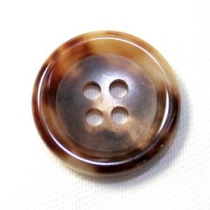 水牛ボタンK-150(COLOR.4A)ブラウン 15mm(S80402) 紳士服スーツジャケットの袖口・袖ボタンに|ttp