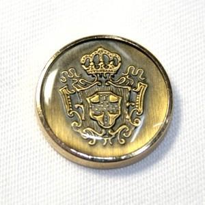 メール便送料無料 メタルボタンDM-0756・ゴールド・15mm 紳士服スーツジャケットの袖口・袖ボタンに|ttp