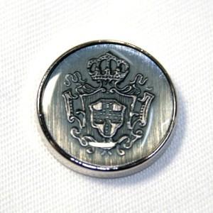 メール便送料無料 メタルボタンDM-0756・シルバー・15mm 紳士服スーツジャケットの袖口・袖ボタンに|ttp
