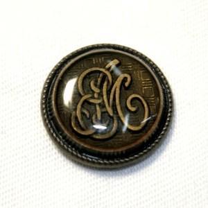 メール便送料無料 メタル釦AP-5047AG・アンティックゴールド・15mm 紳士服スーツジャケットの袖口・袖ボタンに|ttp