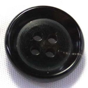 水牛ボタンSM-77(COLOR.B) 14mm(15mmの代えとして使用可能) ツヤありで厚み通常の1.5倍ある丸底ボタン 重ねボタンに|ttp