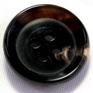 水牛ボタンSM-77(COLOR.DB) 14mm(15mmの代えとして使用可能) ツヤありで厚み通常の1.5倍ある丸底ボタン 重ねボタンに|ttp