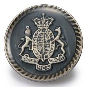 メール便送料無料 メタルボタンY-55・燻しシルバー・21mm紳士服スーツジャケットの20mmや21mmスーツの前ボタンの取替|ttp