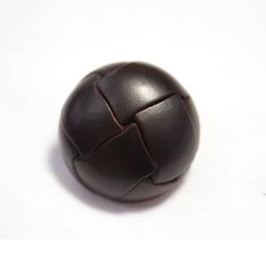 本革ボタンLZ100 23mm (color.04ダークブラウン) コート対応ボタン レザーボタン,皮ボタン老舗テーラー御用達スーツボタン専門店 ttp