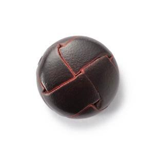 本革ボタンLZ200 15mm(color.04ダークブラウン) コート対応ボタン,スーツ袖ボタン,レザーボタン,皮ボタン|ttp