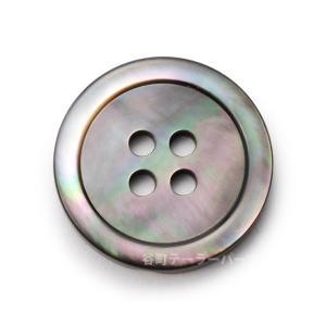 [メール便送料無料]17型黒蝶貝ボタン 20mm|ttp