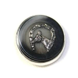 【処分品】メタルボタン馬color.3・15mm 紳士服スーツジャケットの袖口・袖ボタンに|ttp