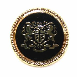 処分品 七宝No14・ゴールドブラック・15mmメタルボタン紳士服スーツジャケットの袖口・袖ボタンに|ttp