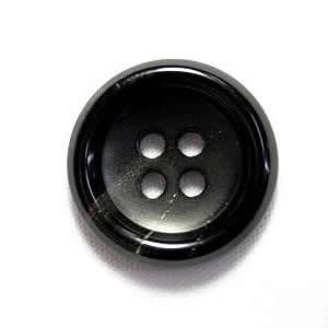水牛ボタンK-150 COLOR.5 黒25mm W85119  コートボタンの取替 老舗テーラー御用達スーツボタン専門店の高級ボタン|ttp