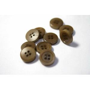 ナットシャツボタン COLOR.3 11.5mm NUT-100 単品 老舗テーラー御用達スーツボタン専門店の高級ボタン|ttp