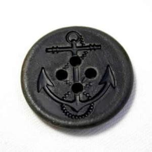 イカリボタン18mm ブラックダメージ加工(BYFL-51#09)|ttp