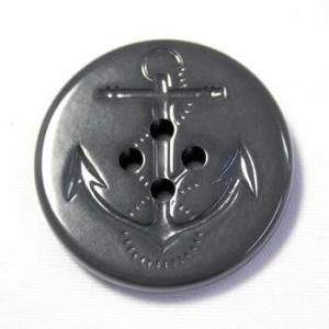 イカリボタン30mm グレー(ねずみ色) ピーコートなどのコート・ジャケットに(color.06)(実寸約31mm)|ttp