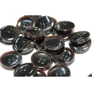 PV6 20mm (color.46ダークブラウン) コート対応ボタン老舗テーラー御用達スーツボタン専門店の高級ボタン|ttp|02