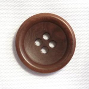 ナットボタン538(COLOR.46ブラウン) 25mm高級コートスーツコート用ボタン|ttp