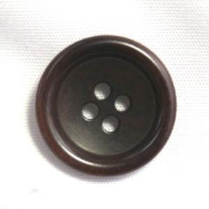 ナットボタン538(COLOR.48ダークブラウン) 25mm高級コートスーツコート用ボタン|ttp