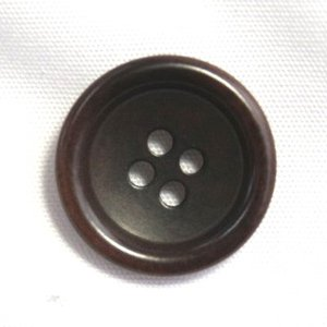 ナットボタン538(COLOR.48ダークブラウン) 23mm|ttp