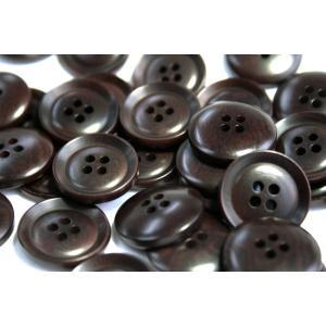 ナットボタン631(COLOR.48ダークブラウン) 25mm高級コートスーツコート用ボタン|ttp|02