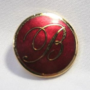 [アウトレット]【メール便送料無料】七宝B・ゴールド・エンジ・15mmメタルボタン 紳士服スーツジャケットの袖口・袖ボタンに|ttp