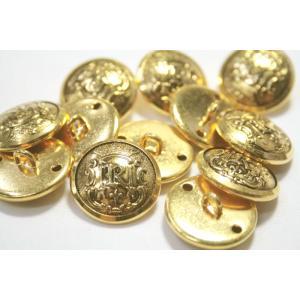 [処分品]メタルHM-5・ゴールド・15mm メタルボタン紳士服スーツジャケットの袖口・袖ボタンに|ttp