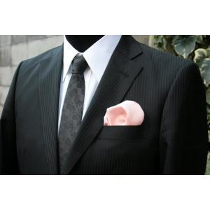 シルク100%ポケットチーフピンク シルクチーフ|ttp
